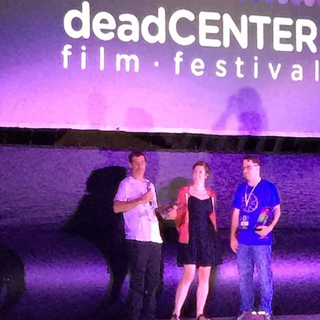 #BeingEvel received the best documentary award from @deadcenterfilm last night.  Thank You!
