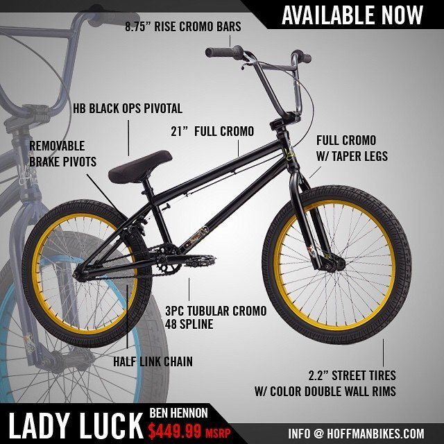 @hoffmanbikes in stock, shipping today! @ben_hennon #hoffmanteam #ladyluck