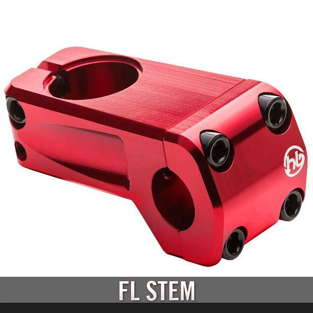Check out the newly redesigned FL Stem. Available Mid June. 50mm reach, 9.8oz, Colors Bmx Black, Hot Red Lipstick, Polished Silverfind out more visit http://hoffmanbikes.com/product/front-load-stem/#hoffmanproduct #bmxparts #bmxlife