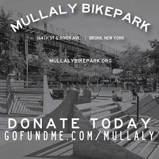 On the D train to @mullalybikepark - Help support if you can! Thank you!