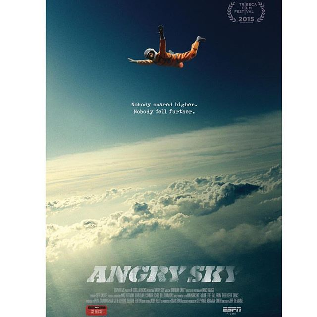 I proposed this film from a book I read that was giving to me by my friend #HarryLoney RIP. It's the greatest story never told - @dickhouseworld Repost: #AngrySky. A Tremaine directed documentary on the life of Nick Paintanida a truck driver and amateur skydiver who launched his own civilian space program in 1965 with the dream to jump from the edge of space.  It will be having its TV broadcast premiere this Thursday, July 30 at 8 PM EST / 5 PM PST, with an encore directly after at 7:30 PM PST for the West Coast on ESPN's main network as part of it's 30 for 30 Series.