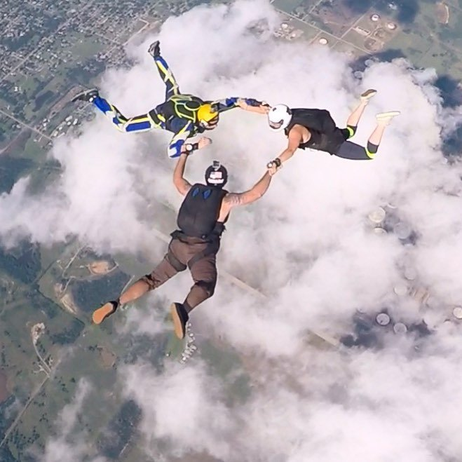 here's a photo I took yesterday of some friends @okskydiving_center