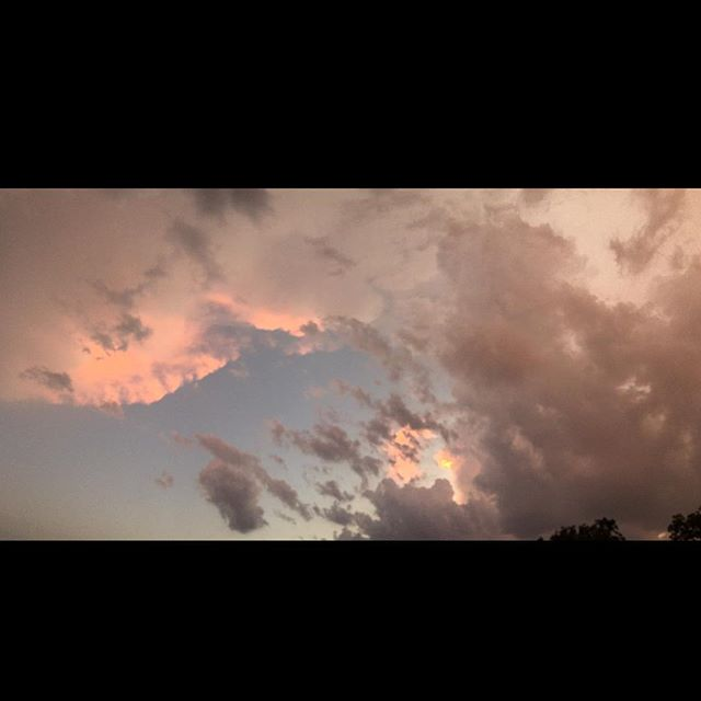 Sunset thunderstorms #backyardglory