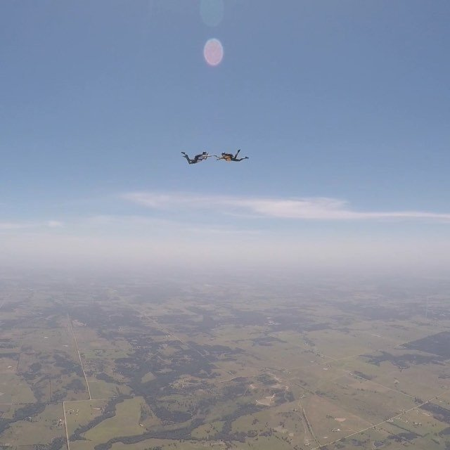 Fun views in the sky today thanks @okskydiving_center