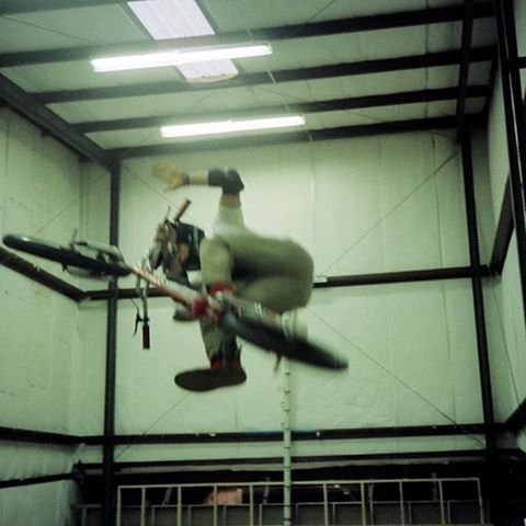 Here's a random flashback photo of a trick I didn't do much. This was probably 87 cause it looks like I'm on a skyway street beat.
