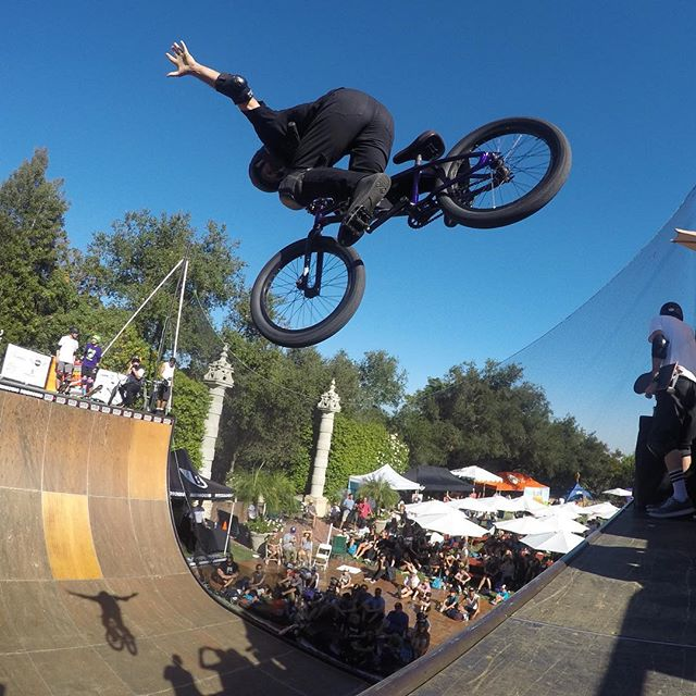 Great day riding with greats in front greats for a great cause. Thanks @tonyhawk @standupforskateparks photo @rickthorne