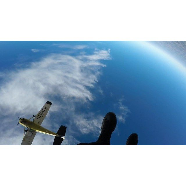 flipping out a plane a couple miles up in the sky thanks for a good start to November @okskydiving_center