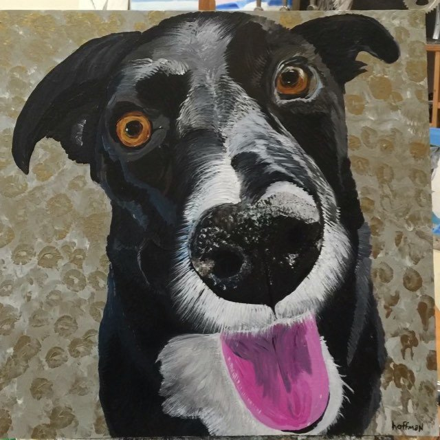 I painted my friend @brandensteineckert dog today.