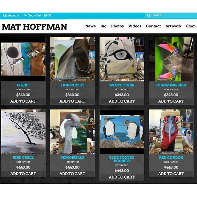 I've been getting requests about buying artwork and my studio is getting a bit cramped, so I added a page onto my website where you can buy some stuff. I posted about 30 painting with pics and vids. Links in my Insta profile or go here. http://mathoffman.com/product-category/artwork/ Thanks