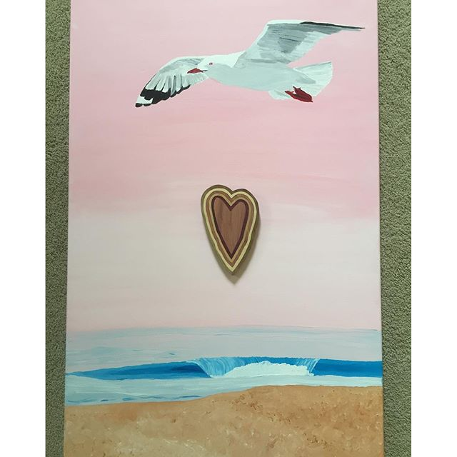 In memory of #OrlyKing. This painting I made reminds me of Orly soaring with his one of kind beauty and grace. Adding the king heart makes it. Thanks for the gifts. @OrlyKingMemorialPage the sky is just the beginning. Fly in peace. 11:11 #️