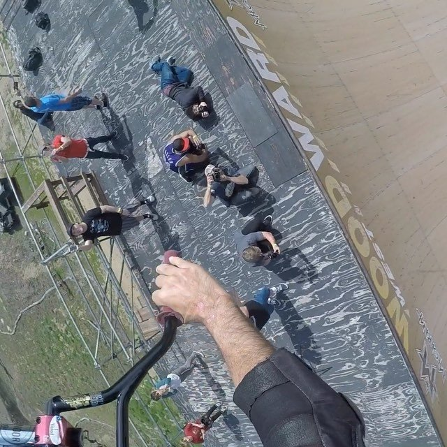 POV of a fun ride today on the mega ramp.