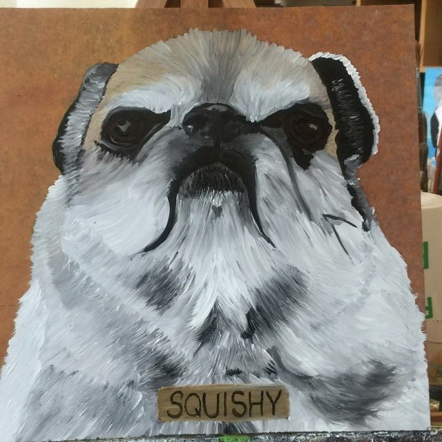 I painted Squishy Ortiz for an art swap with @123dortiz today.