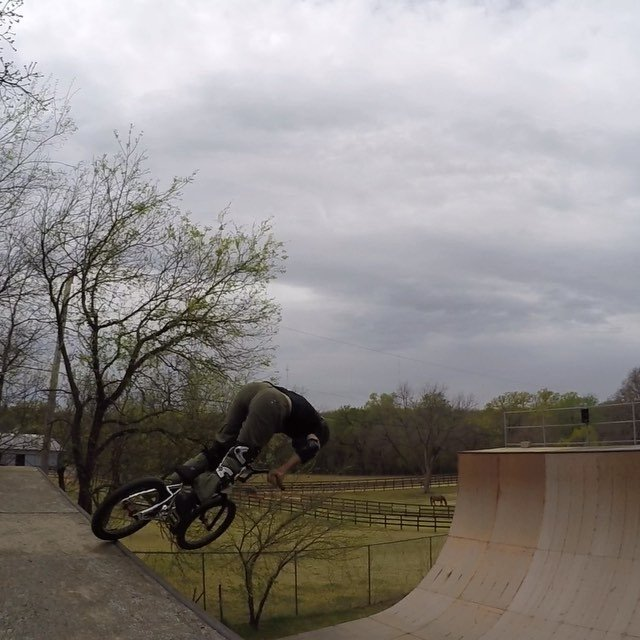 riding before the storm today.