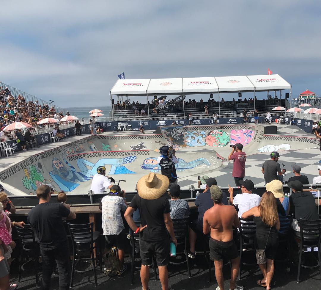 Lost my phone.  Insane how attached to these portals we are.  Lost some good footy. Im back with a new one here in Huntington Beach at the @vansbmxprocup.  I get to watch the new masters kick butt and celebrate our history with the original masters through the @wall2wallfreestyle book release.  Thanks @vansjerry And @vansbmx66 for the invite. @tommydugan being awesome.