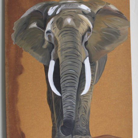 I love painting elephants. This ones for Chris Kunze.