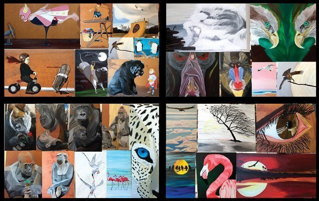 ATTENTION ATTENTION I'm having my first public ART SHOW opening this Saturday APRIL 27th between 4p and 6p here in OKC.  It will be @flipswinebar.  I'll have 20 or 30 paintings showing for a couple months.  Here are some other paintings I've done over the last few years. I lot of these were commissions. I enjoy painting pets. And I know I've been having a lot of requests, but I took a break for this show and to focusing on HB art, but I will get back at it, and will let you know.  I can do prints of any one of these you may like for cheap too.  I hope to see you there! Thanks for your support!! -Mat #mh_paints