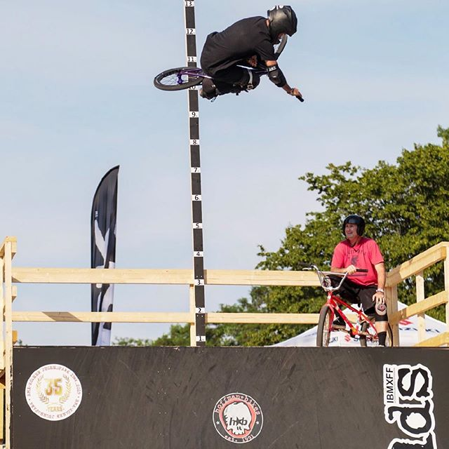 Had an awesome time at THE our #ibmxff @bmxcologne Worlds! It made us proud. Here's 10 pics I picked out from a great collection @edgerider shot from a small demo @blytherbmx @davenourie and I did between some comps on some nice quarter pipes @holdonherewego Built.  Brought me back to the 80s.  I kinda kicked the sh!t out of myself messing up 540s and my body's new defense system  kicked in and I can't move for about a week or so.  I get spinal gout.  This arthritis is hereditary. My body is out smarting me now.  Now it's body over mind I guess.  It's a painful tax to pay now a days but it's better than not going for it.  Peace Love BMX