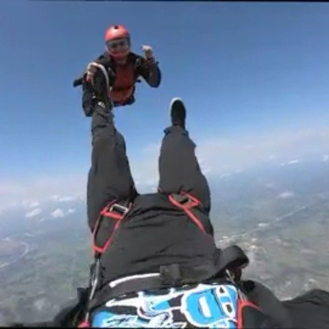Fun day at the DZ.  Got some line twist on opening, but happens.  @mmparra80 thanks @skydiveok ️