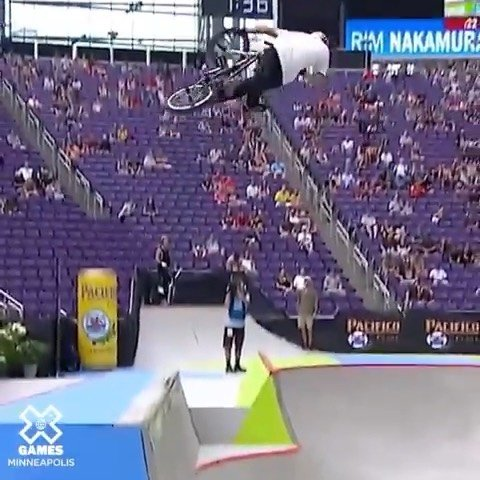 Part 1 of today's RAD @xgames ・・・ The 17-year-old @rimbmx becomes the second-youngest BMX medalist of all-time and the youngest overall in BMX Park.