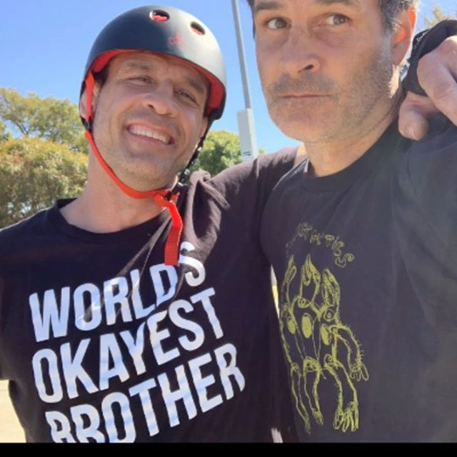 #mathoffmanskatepark Session today with #TheWorldsOkayestBrother @travismhoffman @westernavenueboxinggym