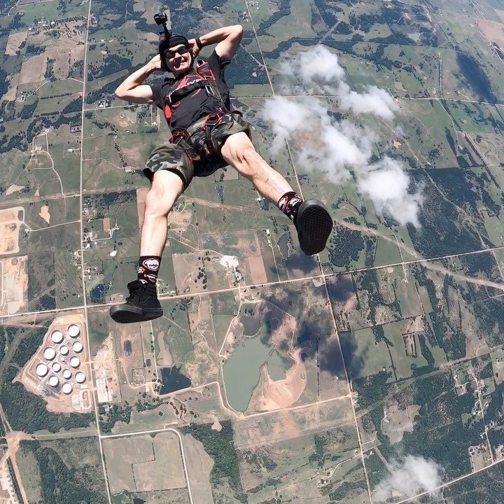 Playing chase in the sky with my friend Jack Miller today.  #mh_skyjournal @skydiveok