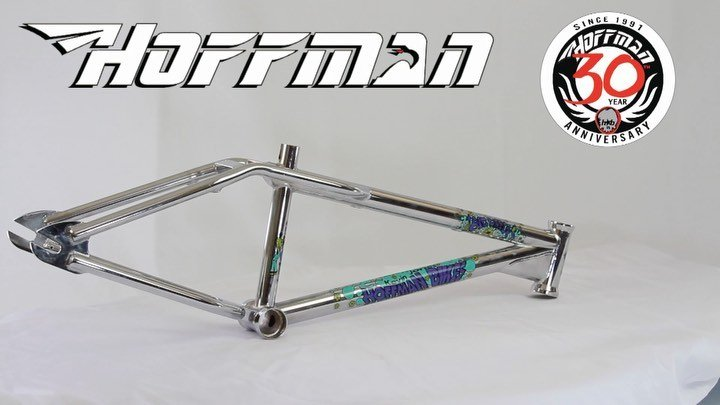 I found a new way to show off my bikes for my 30 year anniversary.  I designed my biggest, greatest line yet.  This is the second @hoffmanbikes frame produced, THE BIG DADDY.  designed by the legend of flatland innovation, KEVIN JONES.  This is in stock.  I have 14 different complete bikes I will soon debut and you'll see @texasmwade signature bike, my Condor, @seth_kimbrough new signature bike, the Orrin, reissued OG Taj, love handles, low drags, and many more goodies will be released in 2021.  It's going to be the biggest year yet.  I can't believe it's been almost 30 years.  This company has brought together my greatest friends and I can't wait to celebrate you all.  Peace, Love, BMX HB website link in profile. Swipe for Big Daddy frames and new soft goods. ️