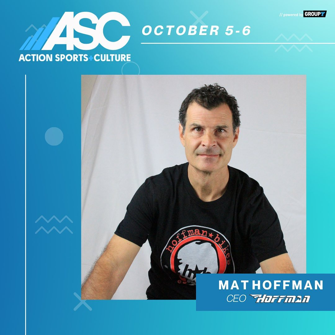 I will be speaking at ASC Action Sports + Culture on Oct 5 & 6. Join us for a 2-day virtual experience featuring panel discussions, interviews, live interactive networking, and more with today's industry leaders, top athletes, and cultural icons. Grab your FREE ticket now at ActionSportsCulture.com #ASCActionSports